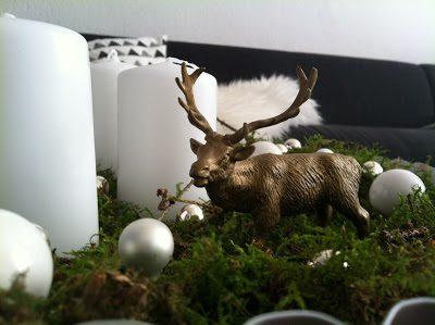 Adventskranz weiß gold moosgrün, hamburgvoninnen.de