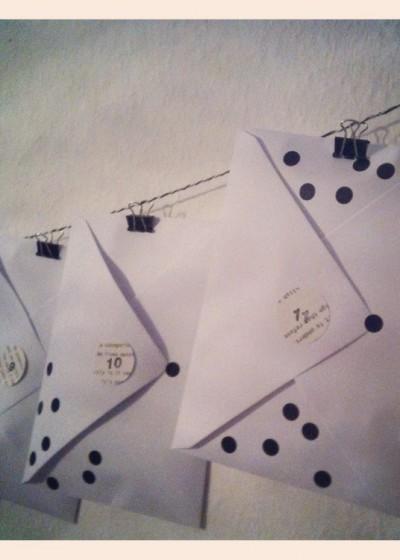 Adventskalender Briefumschläge