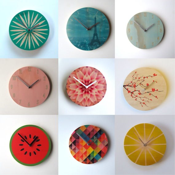 wall clocks by objectify homeware