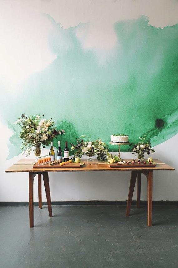 Wandgestaltung im Wasserfarben Look: anewall, watercolor wallpaper