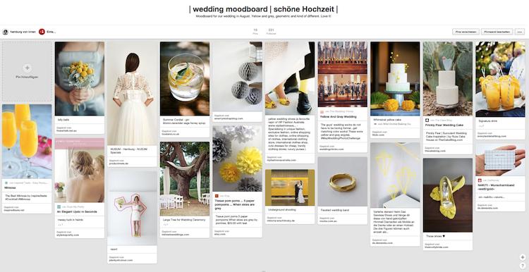 Pinterest Wedding Moodboard