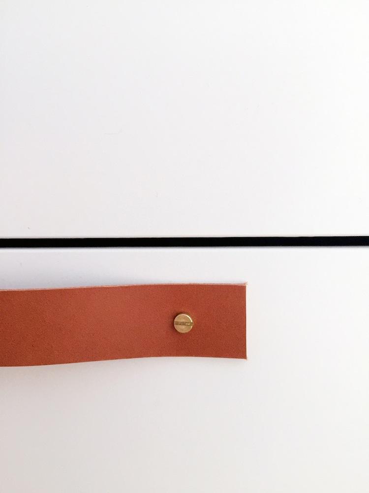 Detail Ledergriff mit Messingschraube, hamburgvoninnen.de