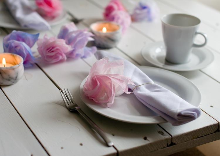 DIY Papierblumen Serviettenring 2