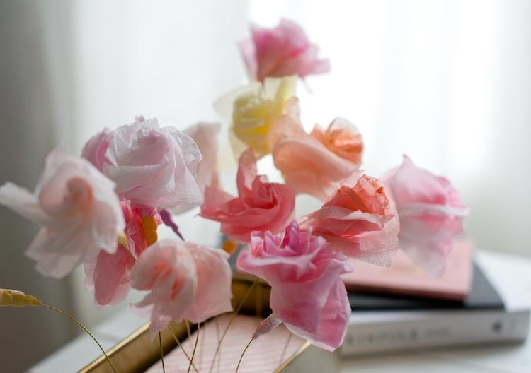 DIY Papierblumen_Tischdeko 3