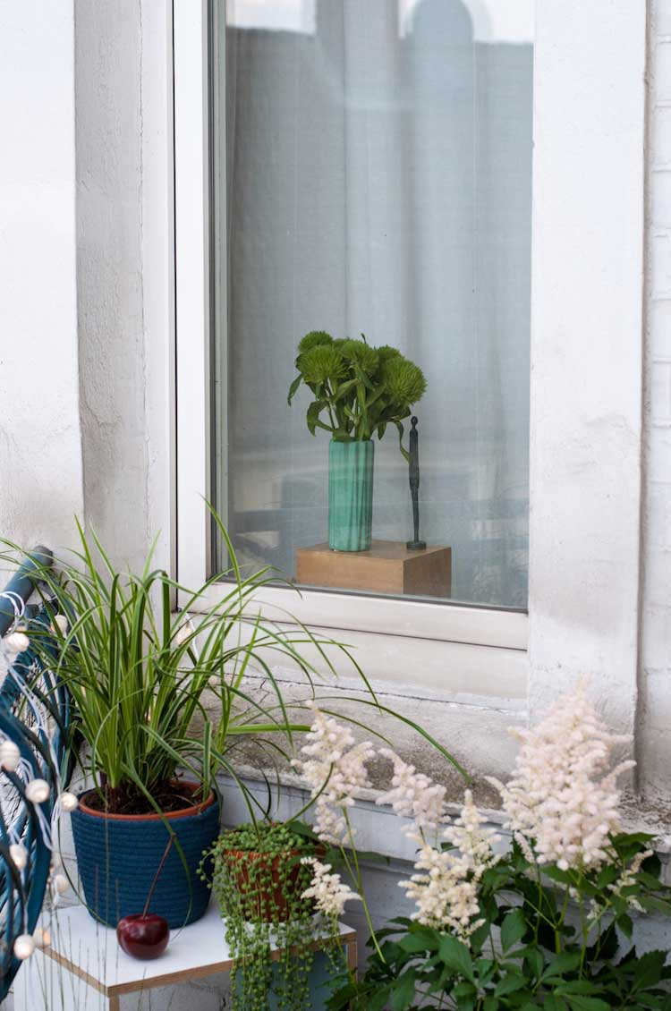Balkonpflanzen Deko kleiner Balkon