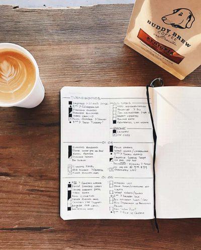 minimalistisches Bullet Journal, hamburg von innen. Foto: @minimaljournal