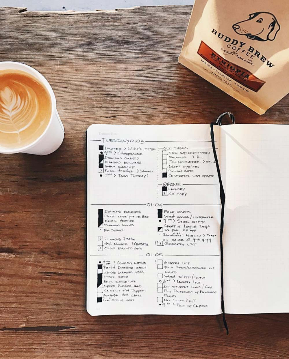 Minimalistisches Bullet Journal – einfach schneller