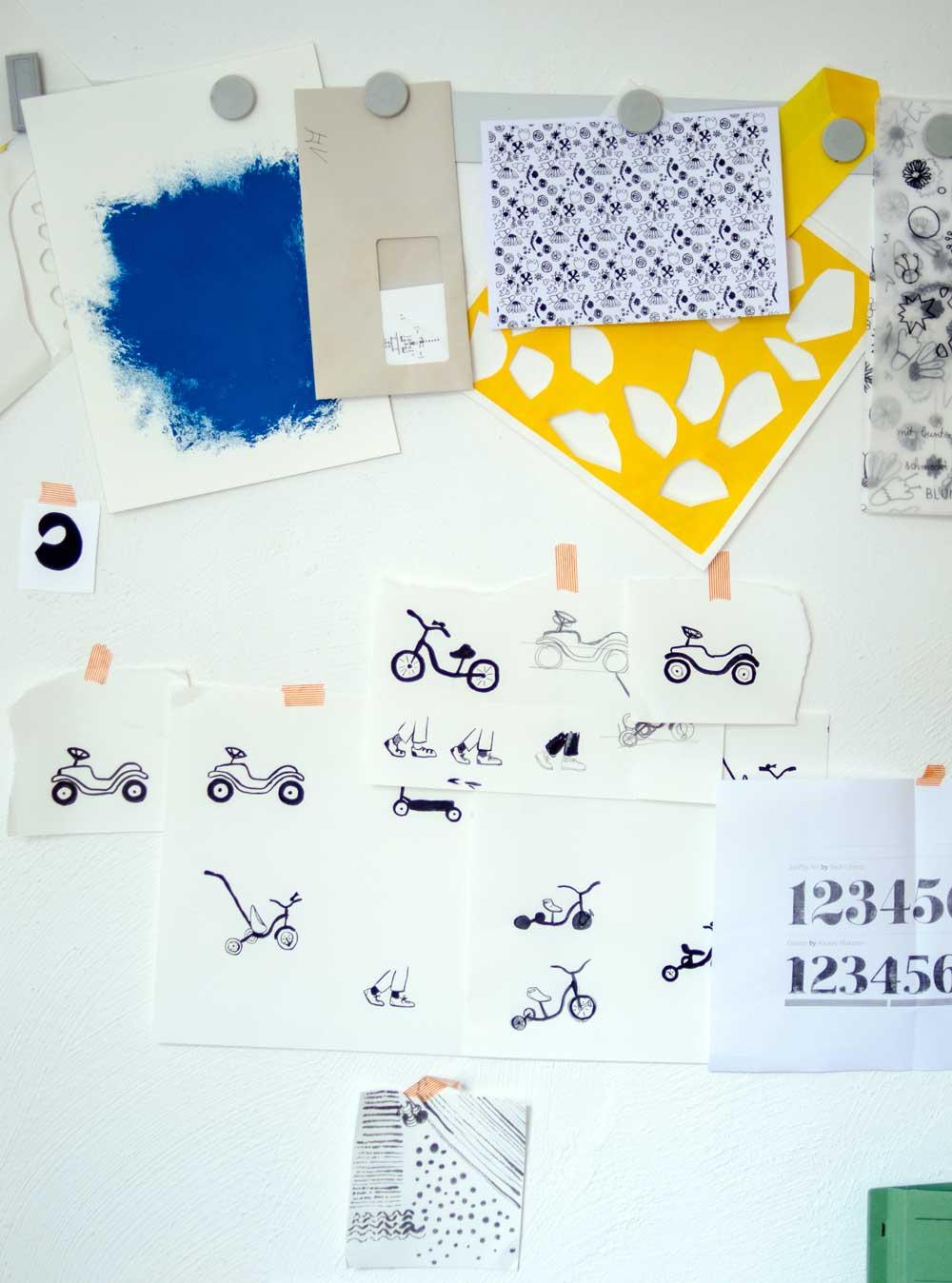 Fahrräder, Diana Laube Illustration. hamburgvoninnen.de