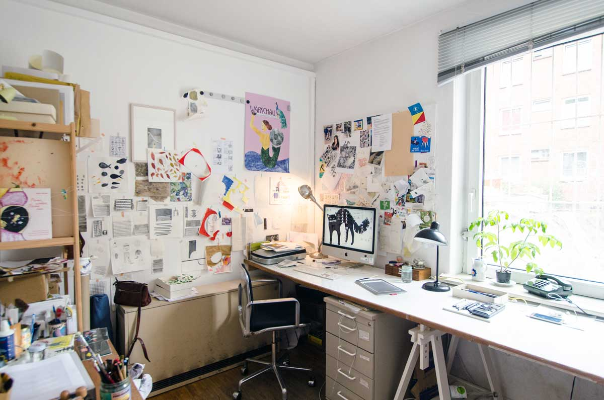 Atelier von Diana Laube, Illustratorin. hamburgvoninnen.de