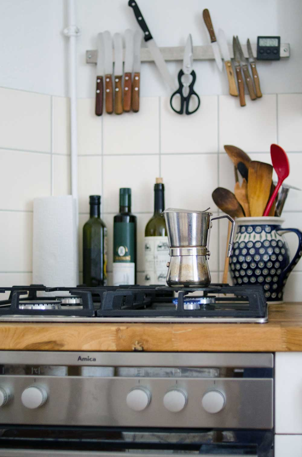 Küche Diana Laube, Homestory hamburgvoninnen.de, Espresso!