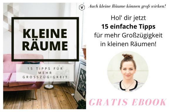 Kleine Räume - 15 Tipps für mehr Großzügigkeit. Gratis Ebook auf hamburgvoninnen.de