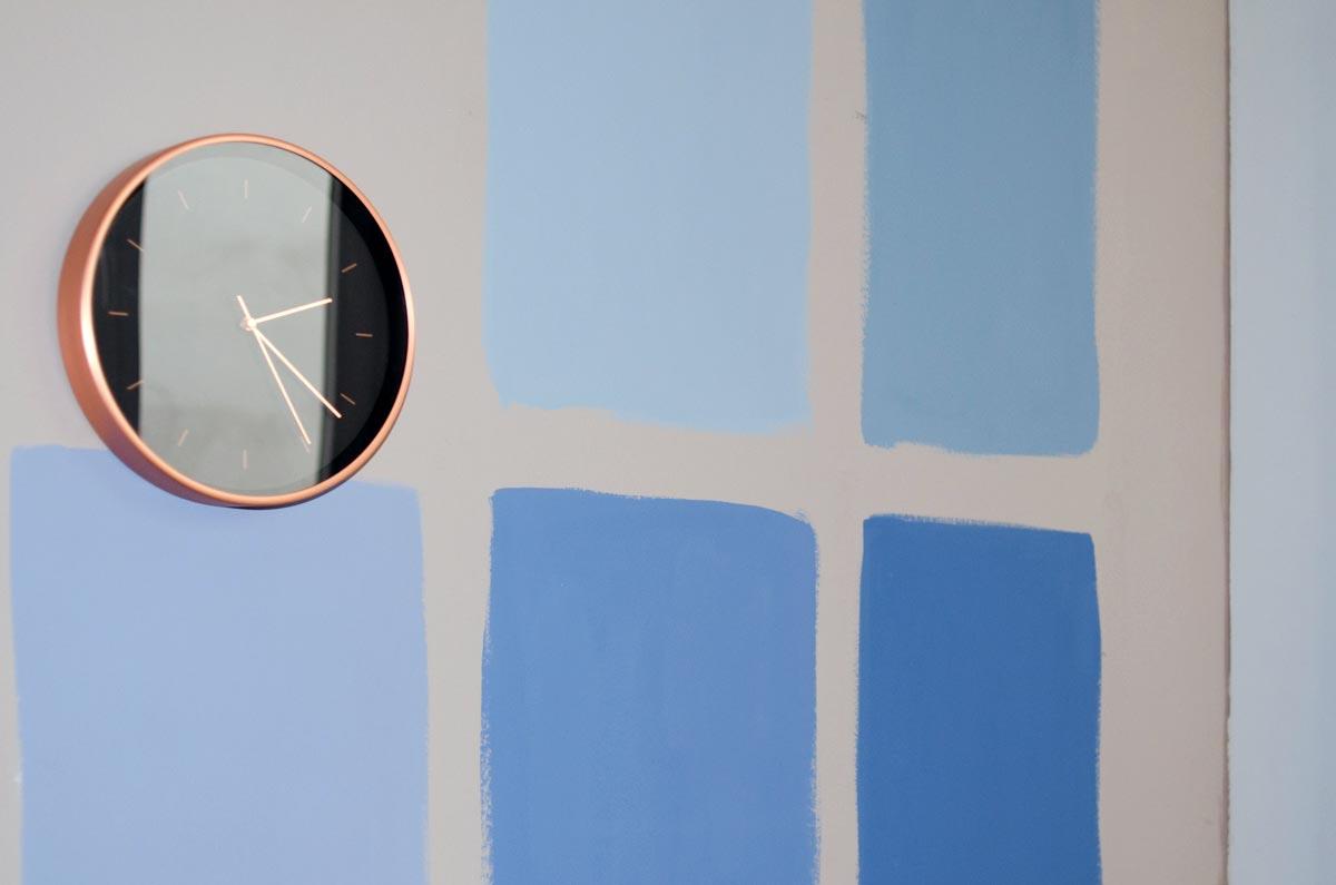 Testflächen/ Farbflächen in der Küche, Anna von Mangoldt Farben, hamburgvoninnen.de