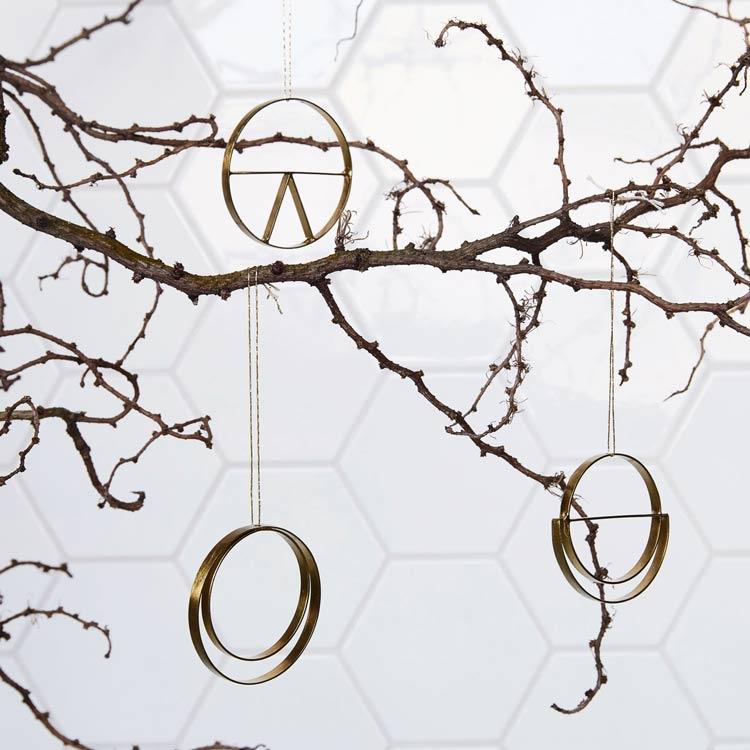 Weihnachtsdeko House Doctor, gold und geometrisch, hamburgvoninnen, ©housedoctor