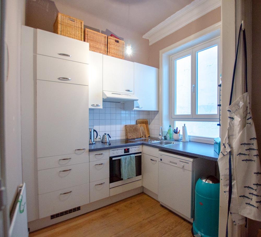 Das Vorher-Foto. Küchenumgestaltung bei hamburg von innen