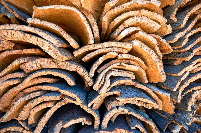 Korkrinde gestapelt. Korkboden, das natürliche Multitalent, hamburgvoninnen.de, ©DKV