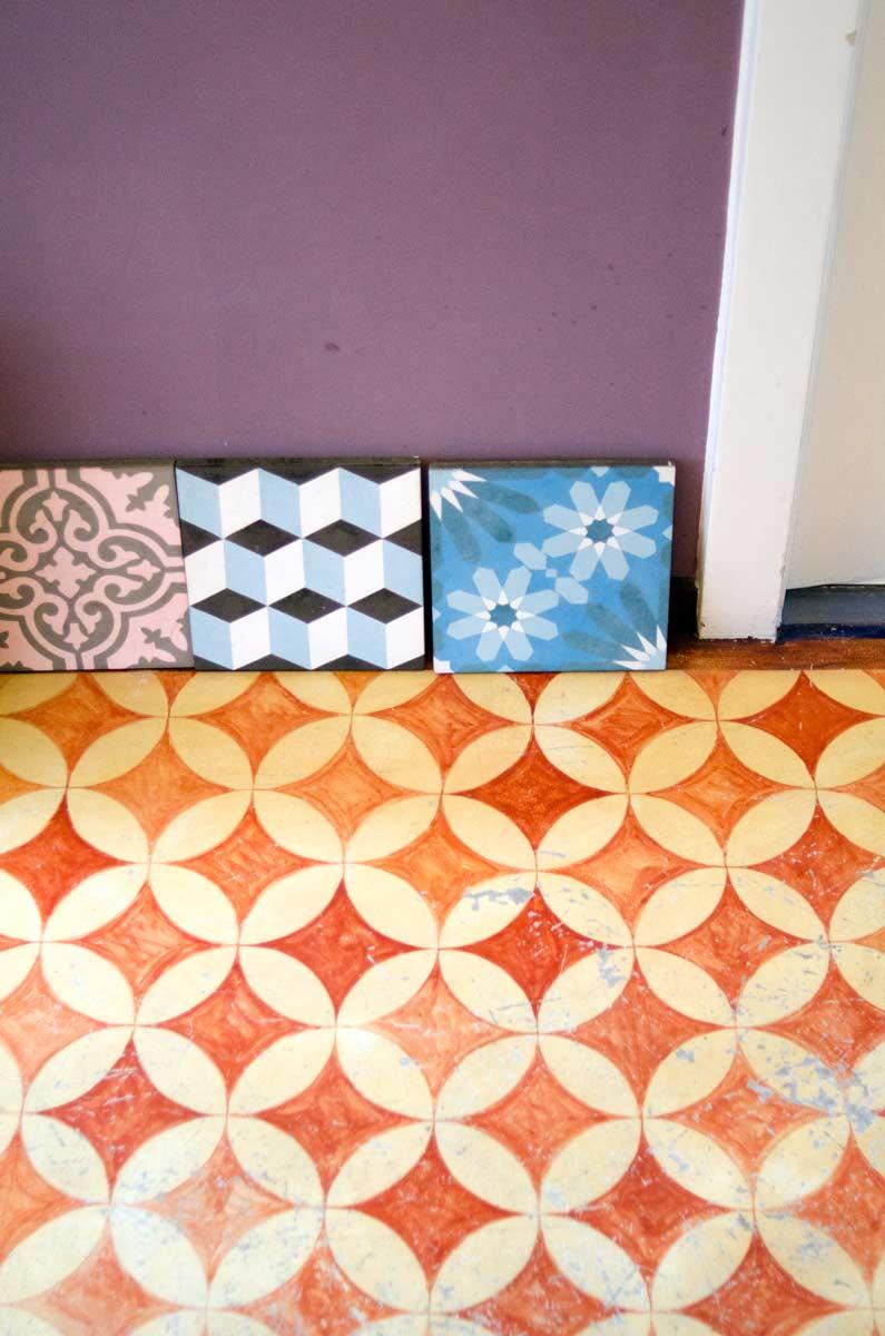 Bodenmalerei, Bodenornament, Charlotte Crome, Linoleum, hamburgvoninnen.de