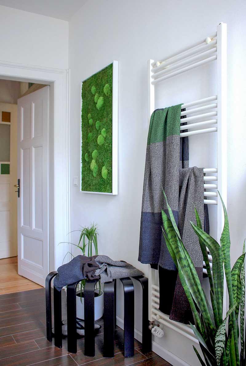 Wohnungsumstyling, Badezimmer, Moosbild