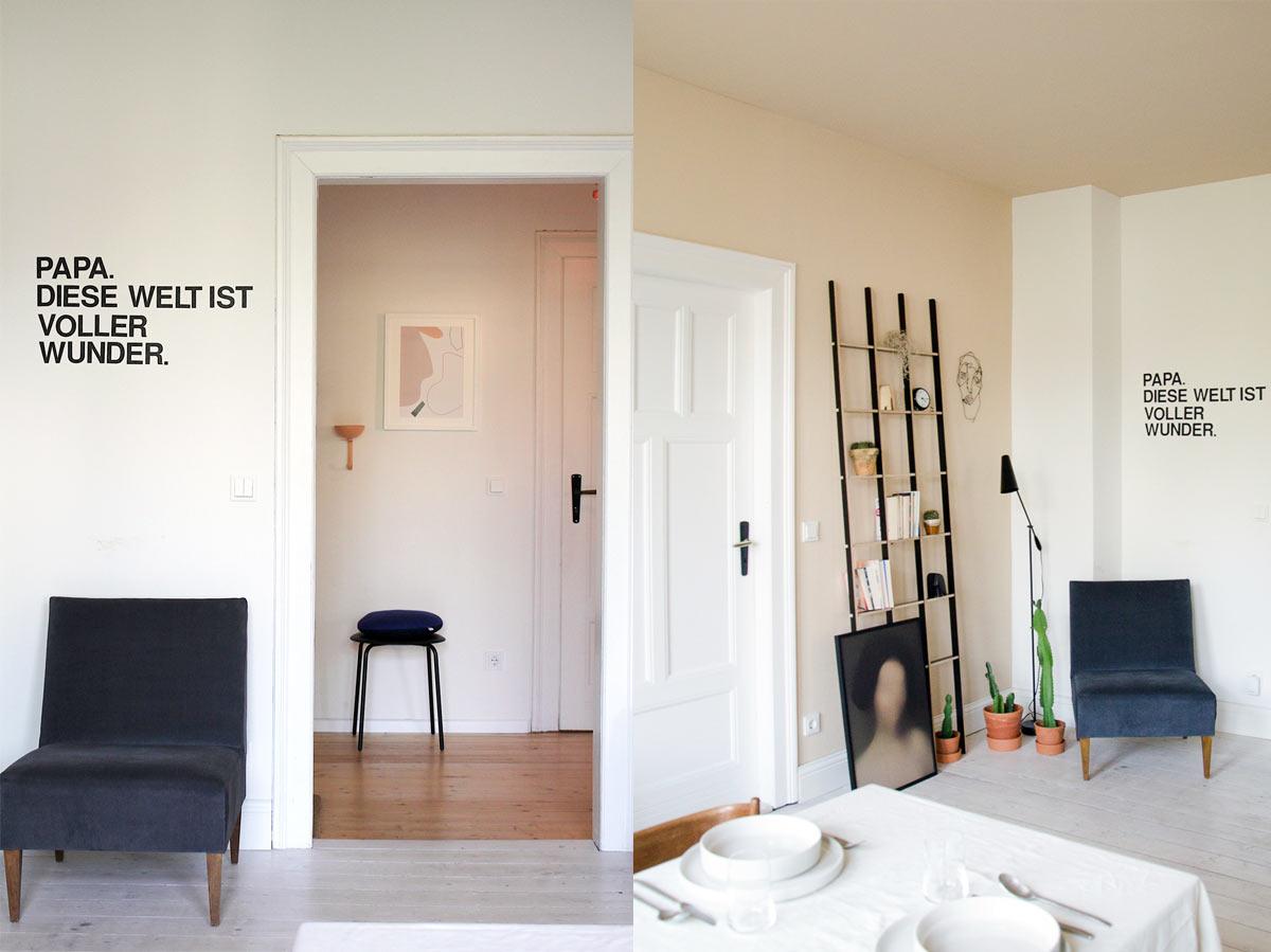 Wohnungsumstyling, Leseecke, walldecor