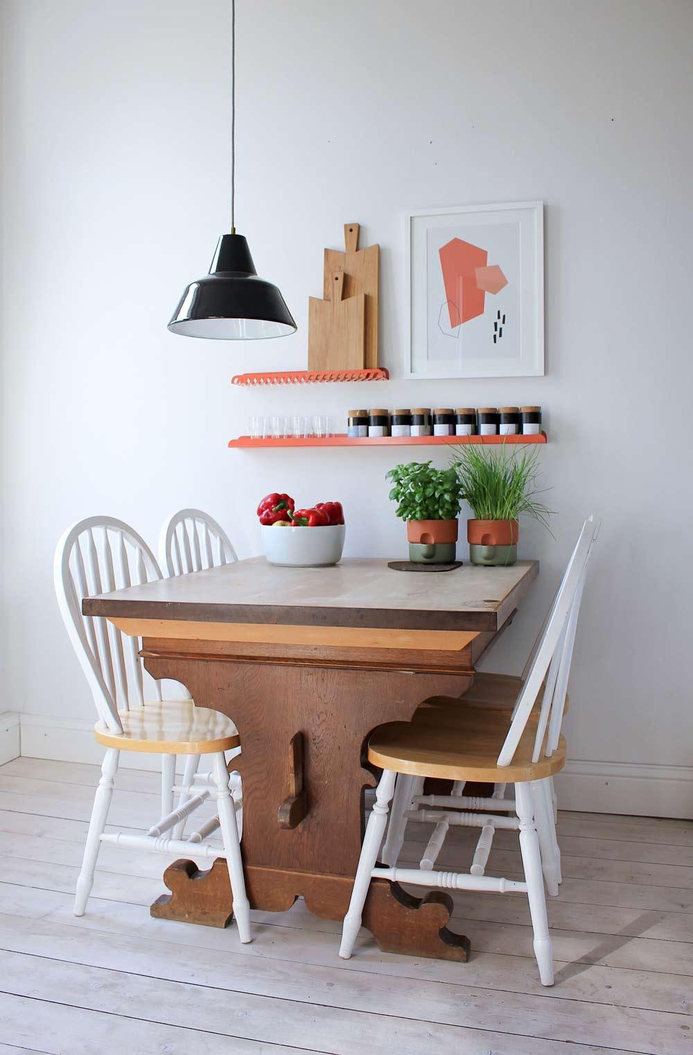 Wohnungsumstyling, Küchenstyling, Essecke